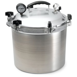 Large stainless steel pressure cooker