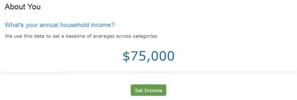 income slider
