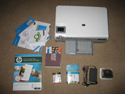 Unboxed wireless printer (click for larger image)