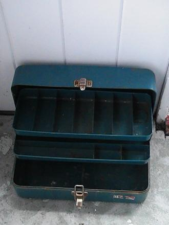old rusted tackle box