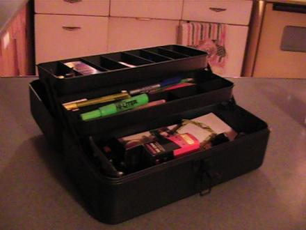tackle box office supply holder