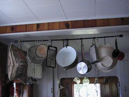 pole style pot rack