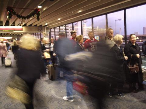 12/28/06 really long security line at the Philly airport, but it moved quickly