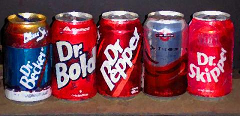 5 cans of soda