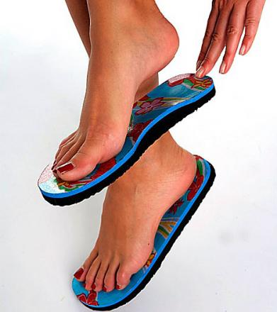 6c269d4cf1486 Go topless this summer with strapless flip-flops.