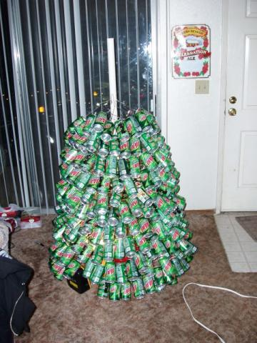 While you may not be jumping with excitement to make your own soda can Christmas  tree this holiday season, there are surprising ways you can recycle (and ... - Mountain Dew Christmas Tree